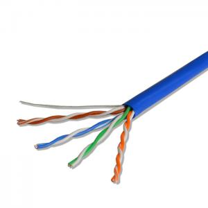 China 24AWG UTP/ FTP CAT5E 4 Pair Bare Copper Network Lan Cable Ethernet Wire on sale