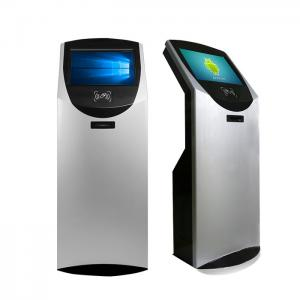China 19'' Floor Stand Bank Self Service Touch Screen Kiosk With NFC Card Reader on sale