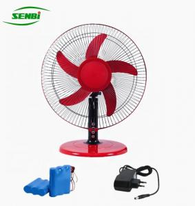 China 3 Speed 16 Inch Ac Dc Table Fan With Rechargeable Battery Lower Noise on sale