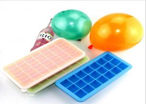Quality Multi Portions Silicone Ice Trays , Silicone Ice Cube Trays With Lids21 Cavity Blocks for sale