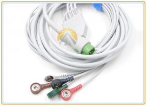 China 5 Lead Wires Mindray Ecg Cable, 12 Pin 5 Lead Ecg Cable Snap AHA For T5 T8 on sale