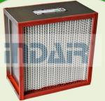 Heat Resistant High Flow HEPA Filter Stainless Steel Frame For Coating Industry