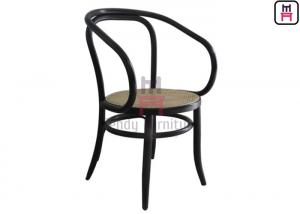 Enjoyable Curved Armrest Outdoor Restaurant Chairs Bentwood Black Machost Co Dining Chair Design Ideas Machostcouk