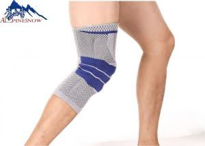 China 3D Circular Knit Fabric Patella Sleeve Silicone Sport Elastic Knitted Knee Support  For Running Basketball on sale