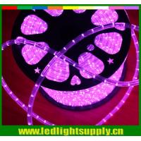 China Super bright Epistar led 220v IP65 2 wire Christmas decoration led round rope lighting on sale