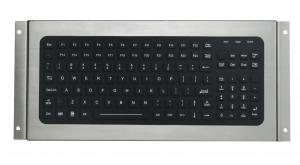 China 119 keys IP67 silicone industrial keyboard, USB black desktop keyboard on sale