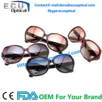 2014 New Season Trendy sunglasses women color frame diamond on temple China Factory