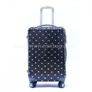 China New arrival ABS luggage with aluminum trolley on sale