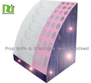 China Colorful Paper Pallet Cardboard Display Stand With Holes And Layers on sale
