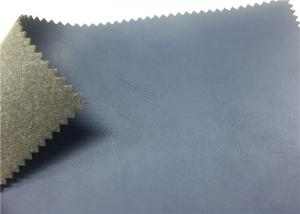 China Dark Blue Shoes Synthetic Leather 1.4 Mm Nonwoven Backing For Sports Shoes on sale