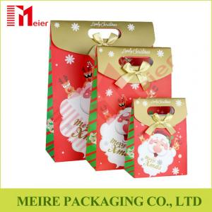 China Santa Claus Christmas Gift Bag Merry Christmas Paper Gift Treat Cookies and candy Bags on sale