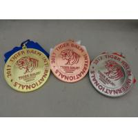 Die Stamped Martial Arts Ribbon Souvenir Medal Brass Material Enamel For Awards