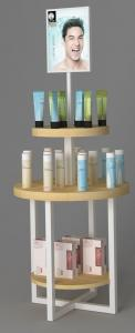 China Three Layers Makeup Display Rack / Professional Makeup Display Counter on sale