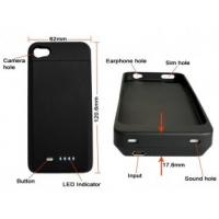 1700Mah Capacity IPhone 4 Extender Battery Case With Short Circuit Protection For IPhone 4