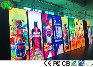 China Full Color Standing Floor Indoor Led Advertising Screen P2.5 IP43 Waterproof on sale