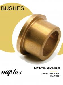 China Powder metallurgy plain bearing | Sintered Bronze Bushings Guide Sleeve For Butterfly Valves , DN A50 DIN on sale