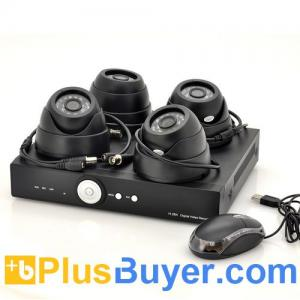 China SecureONE - Surveillance System (4 Dome Cameras, H264 DVR, 500GB) on sale