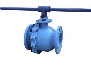 China Ball Valves Ductile Iron Valves With Flange End 2 End Cap Stem Packing on sale
