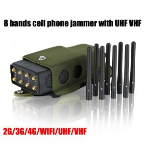 China Full Bands All In One Cellular Signal Jammer 12 Antennas Blocking GPS WiFi RF Signal on sale