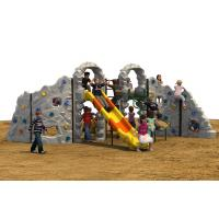 Preschool Kids Climbing Mountain With Climbing Holds Rounded Edge