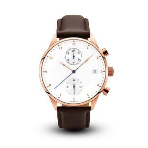 China Custom Mens Brown Leather Watch / Sapphire Glass Watch For Men Eco Friendly on sale