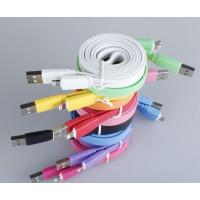 China flat colorful lightning data charger sync cable for iphone 5 on sale