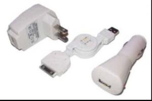 China iphone 3G iPod 3 in 1 charger IPA204 on sale
