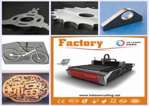 China Aluminum / Carbon Steel Fiber Laser Cutting Machine 500W With CNC Control System on sale