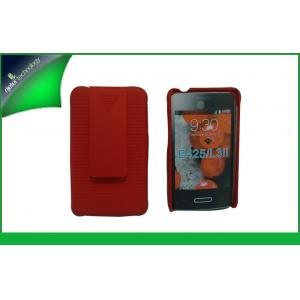 China Anti - slip Red PC Kickstand Phone Cases Cell Phone Holster Combo For LG on sale
