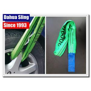 China 4' correas de elevación verdes de la longitud, eslingas del ahogador ligero para las mercancías pesadas on sale