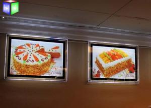 China Custom Menu Slim Crystal LED Light BoxBacklit Acrylic Sheet Wall Mounting on sale