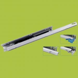 China steel Zinc plated soft closing single-extension under mount slide 14161820 on sale