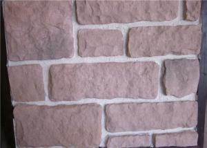 China Decorate Fake Stone Wall Tiles , Faux Rock Wall Covering Solid Surface on sale
