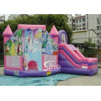 6x5m Commercial kids party princess inflatable bouncy castles with slide for outdoor from Sino Inflatable