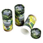 El papel de Kraft cilíndrico verde y amarillo biodegradable puede empaquetando para la comida y el polvo del té