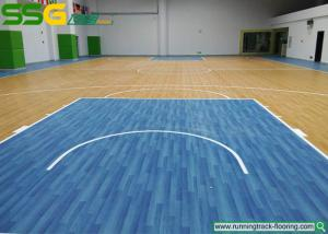 China Multi Purpose PVC Vinyl Flooring For School Oak Style / Vinyl Sports Flooring on sale