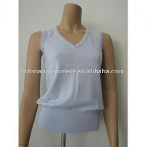 China Women  Sleeveless Cashmere Vest on sale