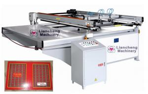 China LC-3000 Large size semi-automatic planar screen printing machine on sale