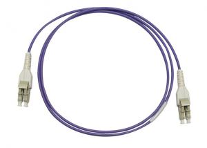 China CATV / LAN / MAN / WAN / Test LC Uniboot Fiber Optic Patch Cord with Violet LSZH jacket on sale