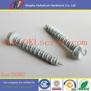 China White Ruspert Hex Washer Head Concrete Screws on sale