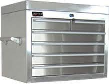 China heavy duty casters 688 * 458 * 732mm Powder Coating Finish Stainless Steel Tool Cabinet on sale