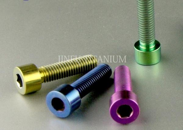 DIN912 Hexagon Socket Cap Titanium Fasteners Smooth Surface