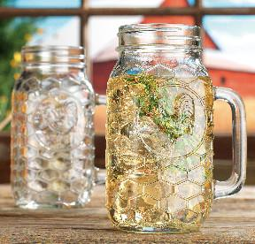 China set of 2 pieces 22oz  glass handle mugs with lids or without lids,for beer and  cold water on sale