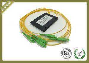 China Single Mode 1x4 PLC Fiber Optic Splitter With SC APC For FTTX Solution OEM ODM on sale