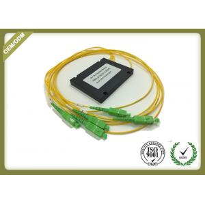 China Single Mode 1x4 PLC Fiber Optic Splitter With SC APC For FTTX Solution OEM ODM on sale