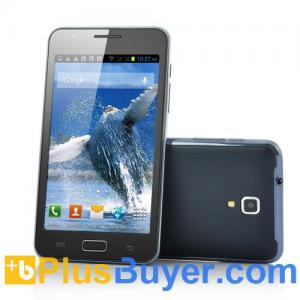 China Baleen - 5 Inch 3G Android Phone (Unlocked, Dual Core 1GHz, 4GB Memory, 5MP Camera) on sale