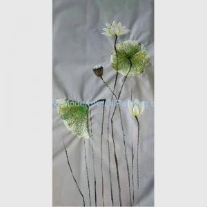 China Hand-painted Lotus Paintings Decorative and Textured Flower Wall Art Paintings on Canvas on sale