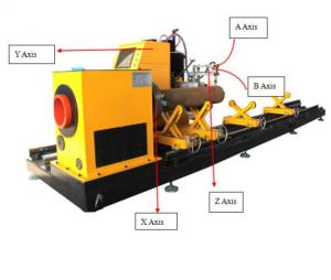 China High Speed CNC Pipe Processing Machines , 5 Axis CNC Pipe Cutting Equipment on sale