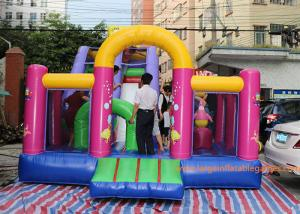 China 7*4*5 M Inflatable Jumping House Customized size / color  With Slide for children on sale