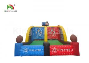 China Customized Basketball Shooting Inflatable Sports Games For Adults CE / UL Approved on sale